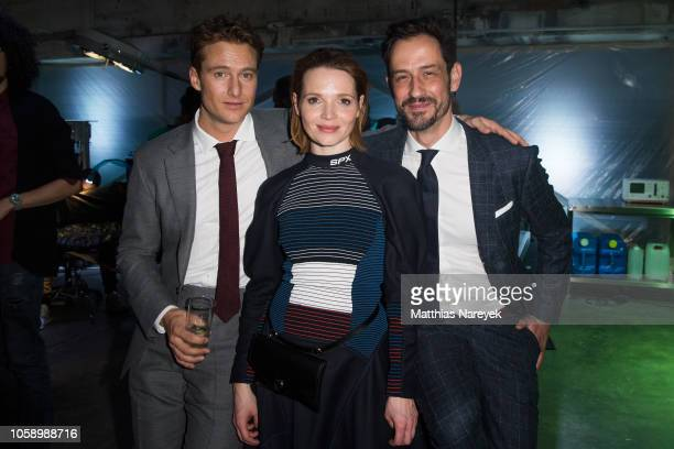 Alexander Fehling Karoline Herfurth and guest attend the premiere of the Amazon Original Series 'BEAT' at Kraftwerk Mitte on November 7 2018 in...