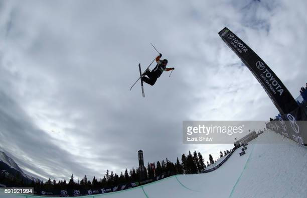 Alexander Ferreira competes in the Superpipe qualification during Day 1 of the Dew Tour on December 13 2017 in Breckenridge Colorado