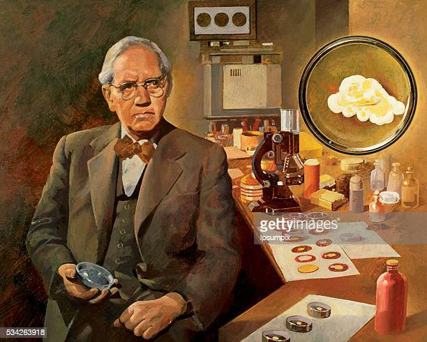 Alexander Fleming British microbiologist discoverer of penicillin Nobel Prize in Physiology and Medicine in 1945