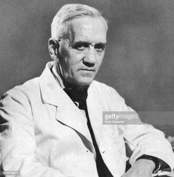 Alexander Fleming Scottish bacteriologist c1930s Fleming discovered the first antibiotic drug penicillin in 1928 He shared the Nobel prize for...