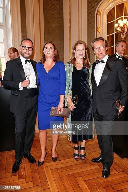 Alexander Franke, Kathrin Franke, Sybille Wasmuth and Dirk von Haeften attend the Dom Perignon Stage Dinner on August 18, 2014 in Hamburg, Germany.