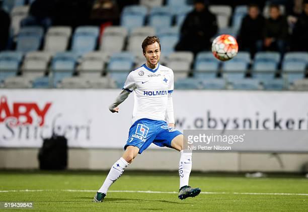 Alexander Fransson of IFK Norrkoping at Nya Parken on April 6, 2016 in Norrkoping, Sweden.