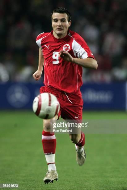 Alexander Frei of Switzerland in action during the FIFA World Cup Playoff, 2nd Leg match between Turkey and Switzerland at The Sukru Saracoglu...