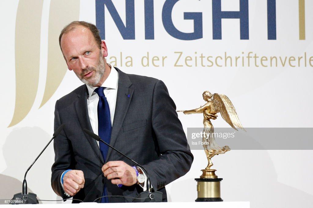 Alexander Freiherr Knigge during the VDZ Publishers' Night at Deutsche Telekom's representative office on November 6, 2017 in Berlin, Germany.