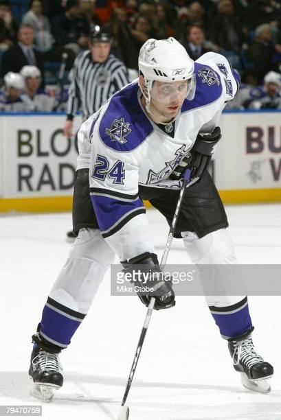 Alexander Frolov of the Los Angeles Kings looks on against the New York Islanders on January 31 2008 at Nassau Coliseum in Uniondale New York