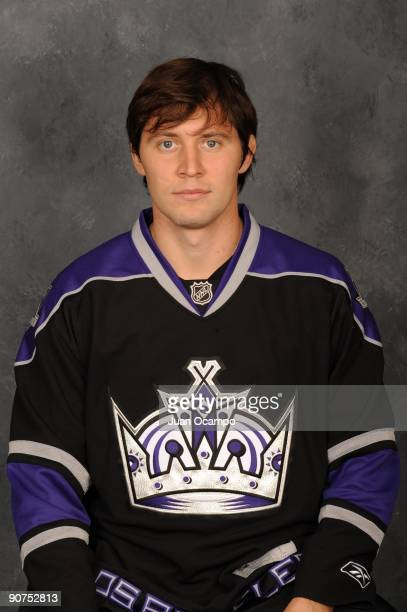 Alexander Frolov of the Los Angeles Kings poses for his official headshot for the 20092010 NHL season on September 12 2009 at the Toyota Sports...