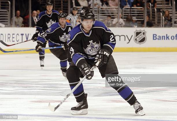 Alexander Frolov of the Los Angeles Kings skates against the Anaheim Ducks on October 22 2006 at Staples Center in Los Angeles California The Ducks...