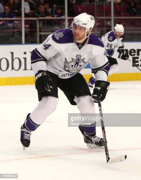 Alexander Frolov of the Los Angeles Kings skates against the New York Rangers at Madison Square Garden on October 14 2009 in New York New York