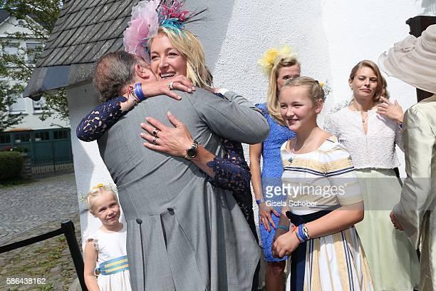 Alexander Fuerst zu Schaumburg-Lippe and his ex wife Lilly zu Sayn-Wittgenstein-Berleburg during the wedding of Prince Maximilian zu...