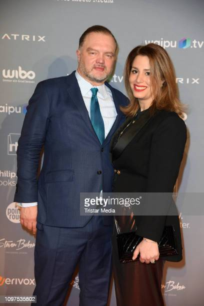 Alexander Fuerst zu SchaumburgLippe and his girlfriend Mahkameh Navabi attend the Movie Meets Media party during 69th Berlinale International Film...