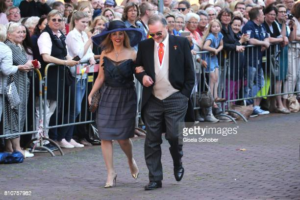 Alexander Fuerst zu SchaumburgLippe and his girlfriend Mahkameh Navabi during the wedding of Prince Ernst August of Hanover jr Duke of...