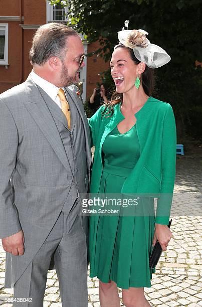 Alexander Fuerst zu SchaumburgLippe Charlotte von Oeynhausen during the wedding of Prince Maximilian zu SaynWittgensteinBerleburg and Franziska...