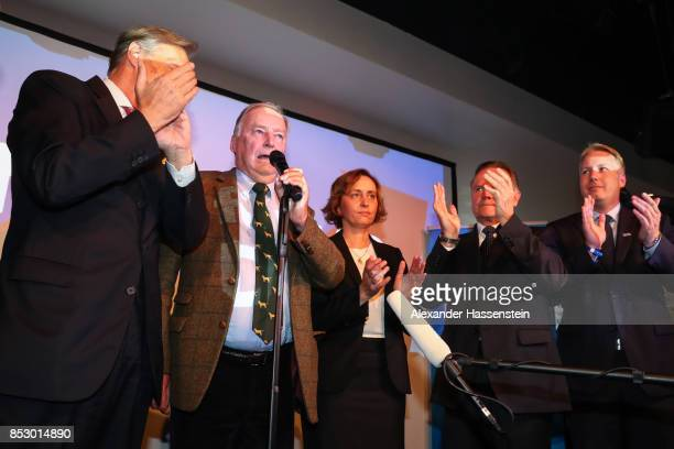 Alexander Gauland colead candidate of the Alternative for Germany Beatrix von Storch of the Alternative fuer Deutschland and supporters of the...