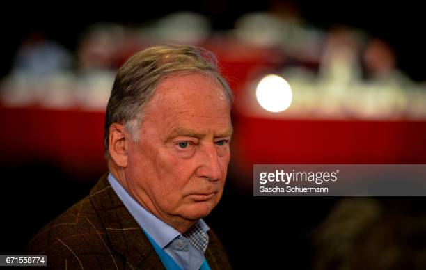 Alexander Gauland head of the AfD in Bandenburg looks on during the federal congress of the rightwing populist Alternative for Germany political...