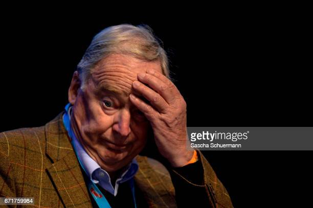 Alexander Gauland head of the AfD in Bandenburg reacts during the federal congress of the rightwing populist Alternative for Germany political party...