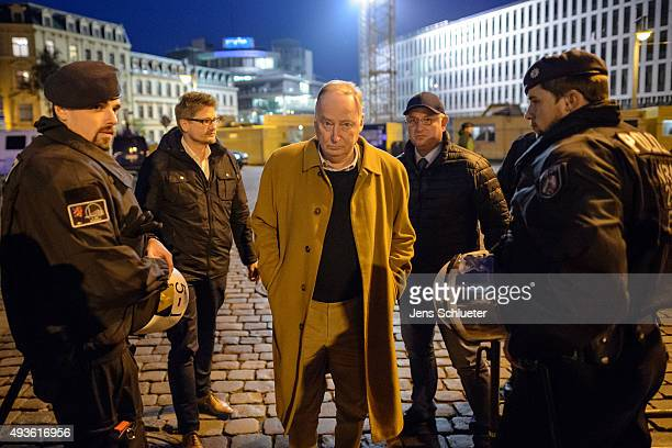 Alexander Gauland leading member of the AfD political party arrives at an AfD rally on October 21 2015 in Halle Germany The AfD which stands for...
