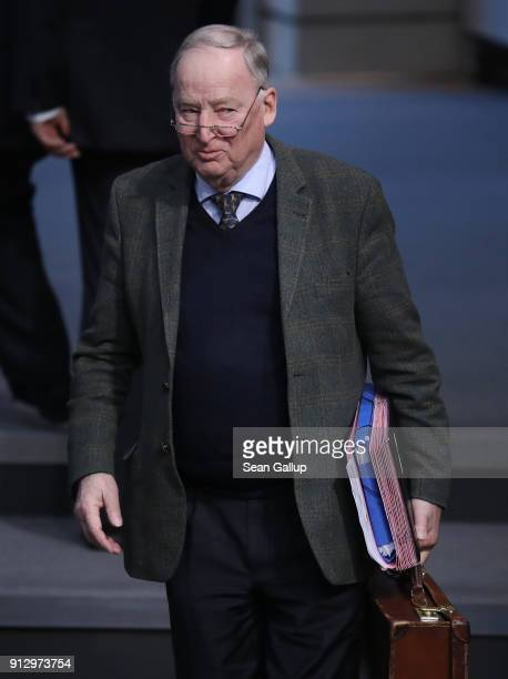 Alexander Gauland of the rightwing Alternative for Germany political party attends debates at the Bundestag over a proposal concerning the rights of...