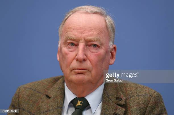 Alexander Gauland who was a colead candidate of the rightwing Alternative for Germany party in yesterday's German federal elections speak to the...