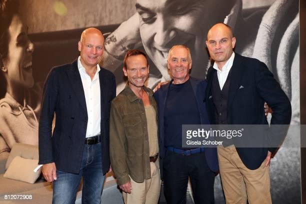 Alexander Gedat, CEO of Marc O'Polo, Bernd Keller, COO of Marc O'Polo, Werner Boeck, Owner of Marc O'Polo and Juergen Hahn, CFO of Marc O'Polo pose...