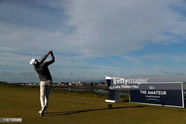Alexander George of Denmark in action during day four of the RA Amateur Championship at Portmarnock Golf Club on June 20 2019 in Portmarnock Ireland