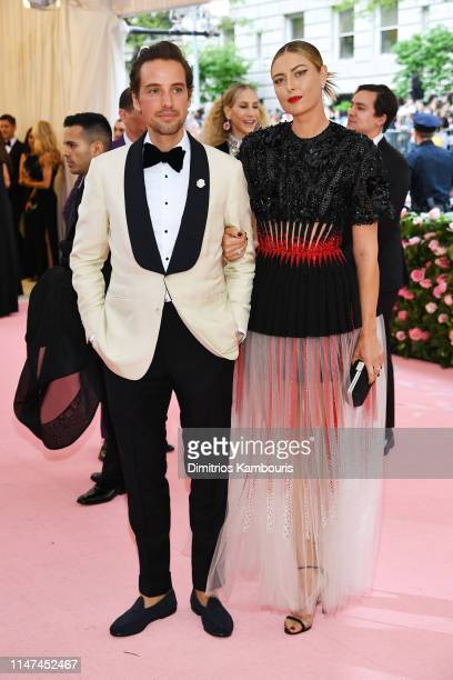 Alexander Gilkes and Maria Sharapova attend The 2019 Met Gala Celebrating Camp: Notes on Fashion at Metropolitan Museum of Art on May 06, 2019 in New...