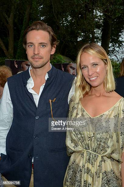 Alexander Gilkes and Misha Nonoo attends the '99 Homes' Hamptons Screening at Guild Hall on July 26 2015 in East Hampton New York