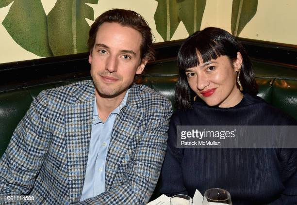 Alexander Gilkes and Sarah Brown McLeod attend The Andy Warhol Museum's Annual NYC Dinner at Indochine on November 12 2018 in New York New York