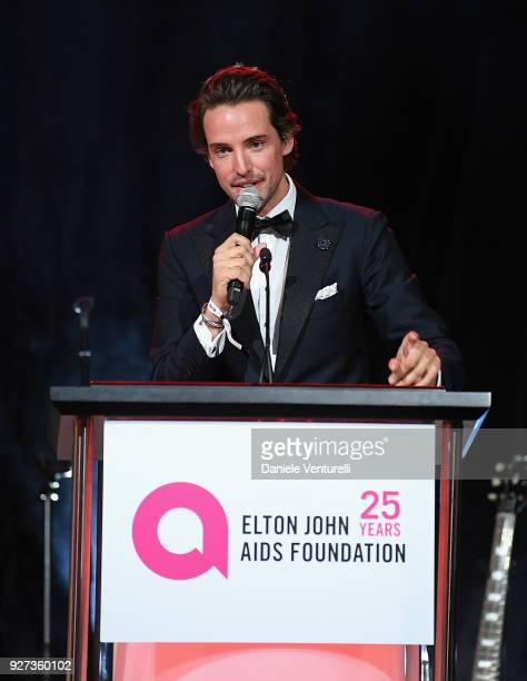 Alexander Gilkes attends Elton John AIDS Foundation 26th Annual Academy Awards Viewing Party at The City of West Hollywood Park on March 4 2018 in...