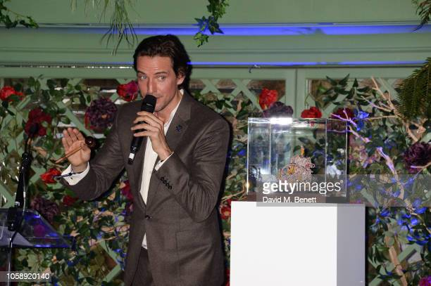 Alexander Gilkes attends the Annabel's Art Auction fundraiser in aid of Teenage Cancer Trust Teen Cancer America at Annabel's on November 7 2018 in...