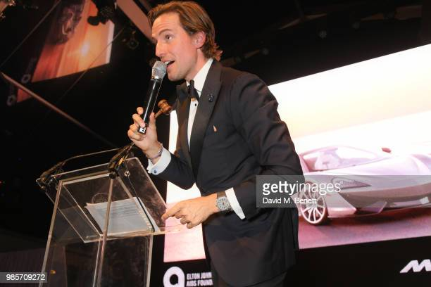 Alexander Gilkes attends the Argento Ball for the Elton John AIDS Foundation in association with BVLGARI Bob and Tamar Manoukian on June 27 2018 in...
