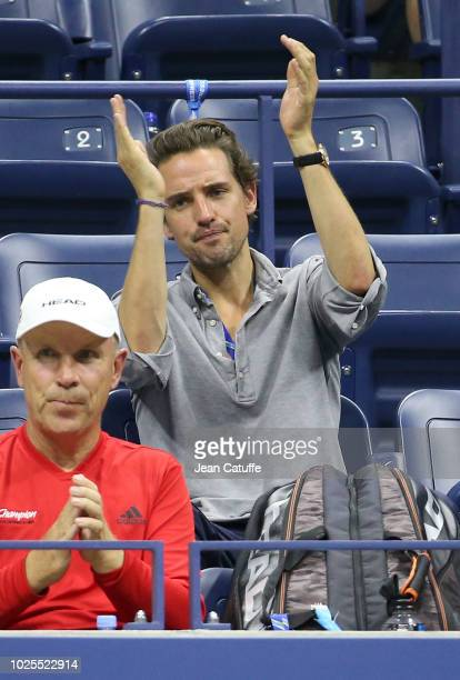 Alexander Gilkes new boyfriend of Maria Sharapova of Russia attends her match on day 4 of the 2018 tennis US Open on Arthur Ashe stadium at the USTA...