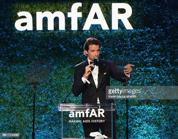 Alexander Gilkes onstage at the amfAR Gala Los Angeles 2017 at Ron Burkle's Green Acres Estate on October 13 2017 in Beverly Hills California