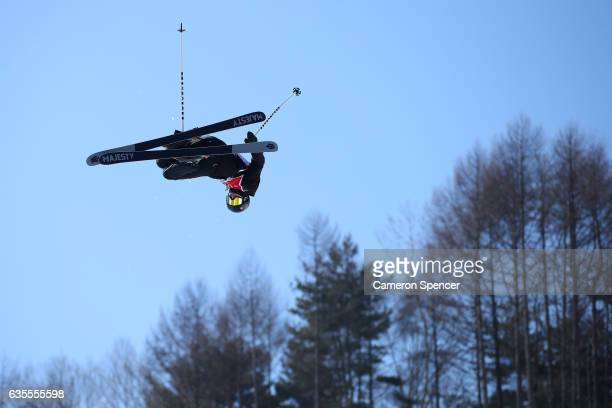 Alexander GlavatskyYeadon of Great Britain competes in the FIS Freestyle World Cup Ski Halfpipe Qualification at Bokwang Snow Park on February 16...