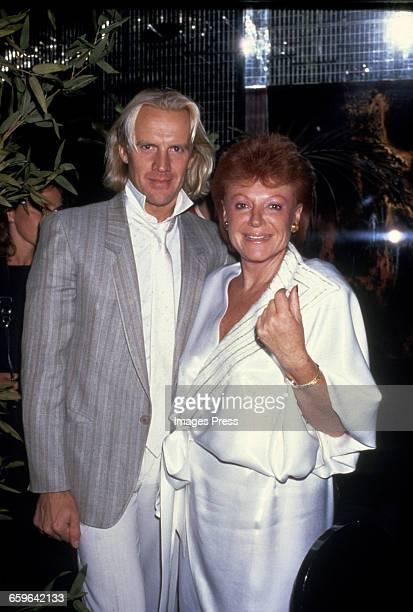 Alexander Godunov with owner of Regine's Nightclub Regine Zylberberg circa 1984 in New York City