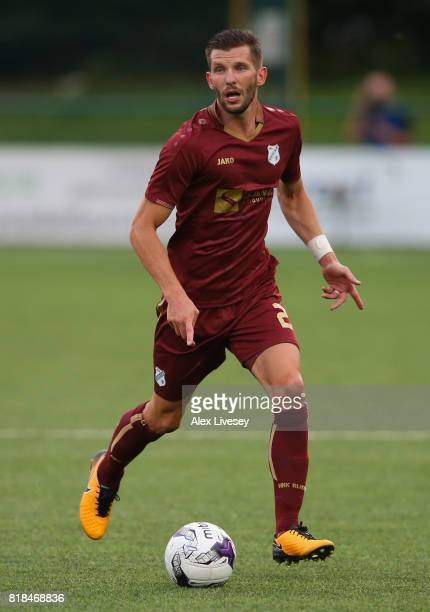 Alexander Gorgon of HNK Rijeka during the UEFA Champions League second qualifying round second leg match between The New Saints FC and HNK RIjeka at...