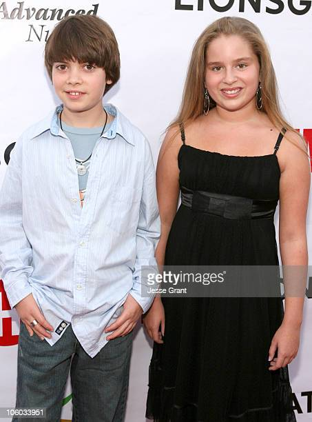 Alexander Gould and Ali Grant during 'Weeds' Season Two Premiere Arrivals at The Egyptian Theatre in Hollywood California United States