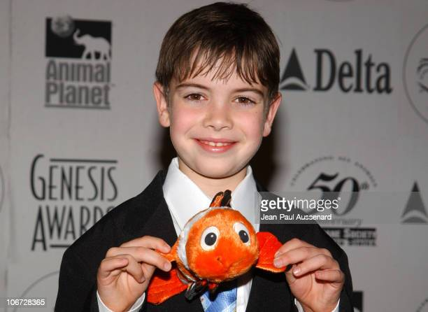 Alexander Gould during The 18th Annual Genesis Awards and 50th Anniversary of the Humane Society of the United States Pressroom at Beverly Hilton in...