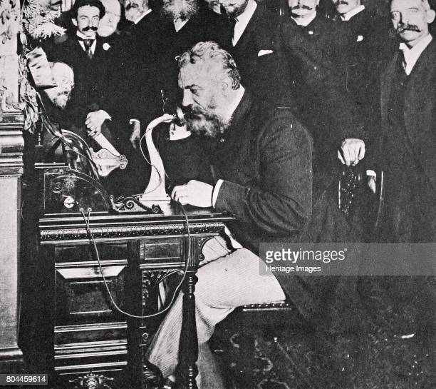 Alexander Graham Bell makes the first telephone call between New York and Chicago USA 1892 Scottishborn American inventor Alexander Graham Bell...