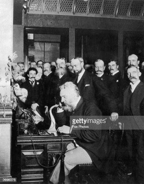 Alexander Graham Bell makes the first telephone call from New York to Chicago in 1892 Bell invented the telephone sixteen years earlier in 1876
