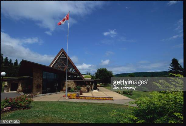 alexander graham bell national historic site - flag of nova scotia stock pictures, royalty-free photos & images