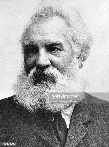 Alexander Graham Bell Scottishborn American inventor patented telephone 1876 Picture published 1907
