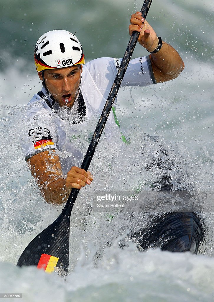 Alexander Grimm Of Germany Competes In The Kayak K1 Mens Semifinals Held At