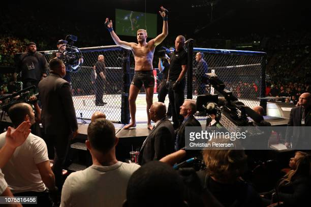 Alexander Gustafsson of Sweden prepares to enter the Octagon prior to facing Jon Jones in their light heavyweight bout during the UFC 232 event...