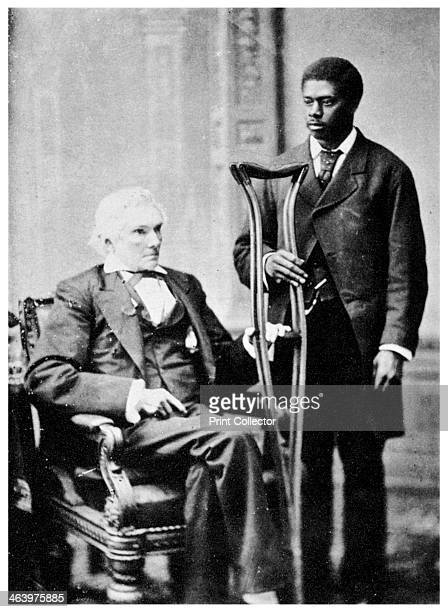 Alexander H Stephens, American politician, and a servant, c1870s . Stephens served as Vice-president of the Confederacy during the American Civil...