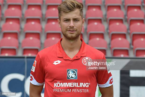 Alexander Hack poses during the official team presentation of 1 FSV Mainz 05 at Opel Arena on July 25 2016 in Mainz Germany