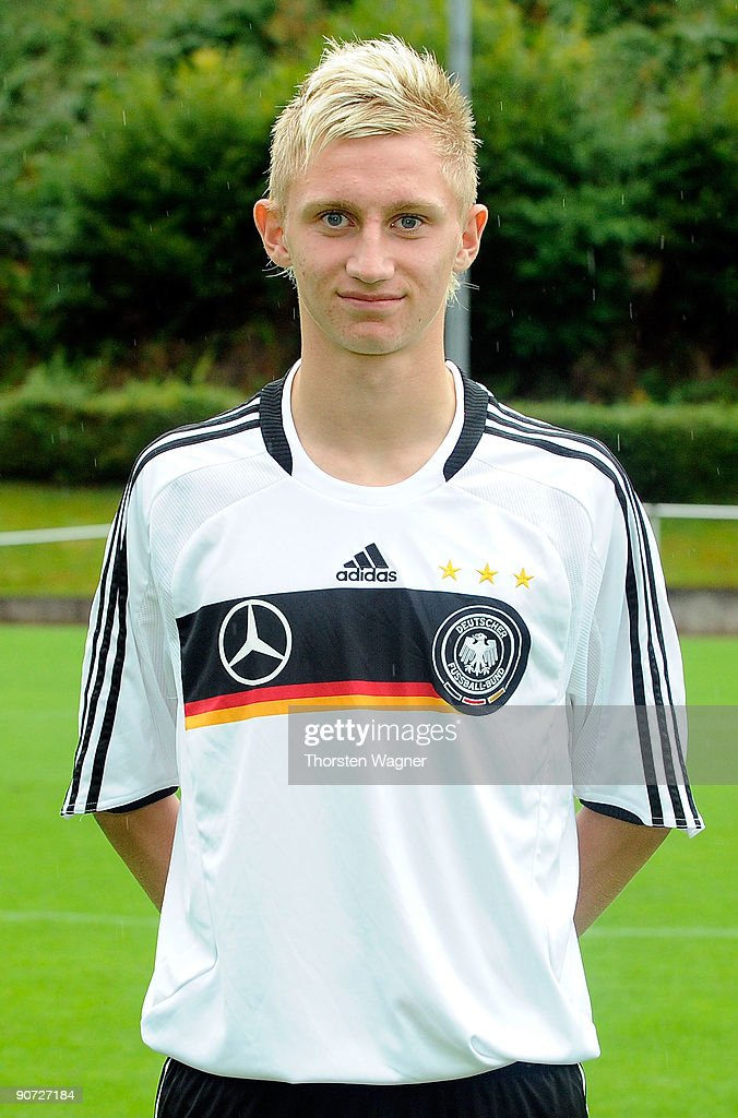 Alexander Hahn poses during the U17 Germany team presentation at the Sportschule on September 14, 2009 in Hennef, Germany.