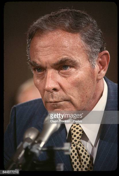 Alexander Haig US general and former Secretary of State during a Senate hearing