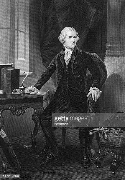 Alexander Hamilton American politician Engraving