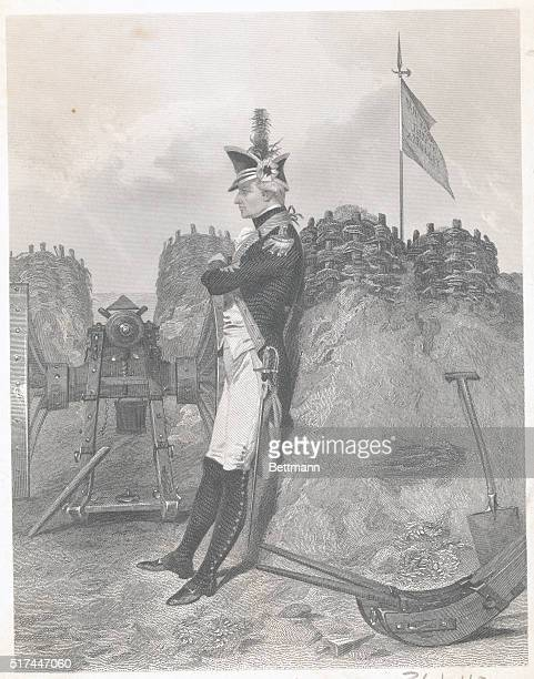 Alexander Hamilton as an Artillery Officer during the Revolutionary War 1776