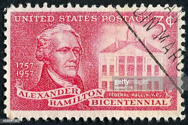 アレクサンダーハミルトン stamp - 200周年 ストックフォトと画像